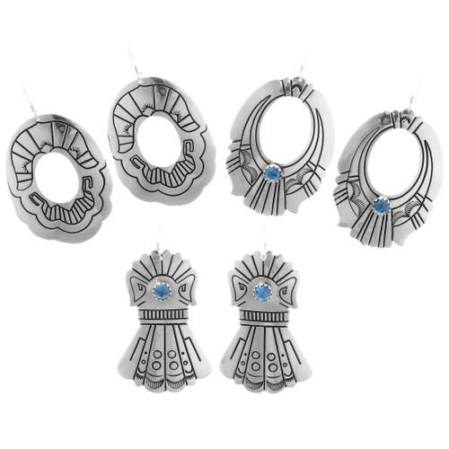 Sterling Silver Navajo Earrings 39969