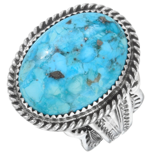Sterling Silver Native American Turquoise Ring 39998