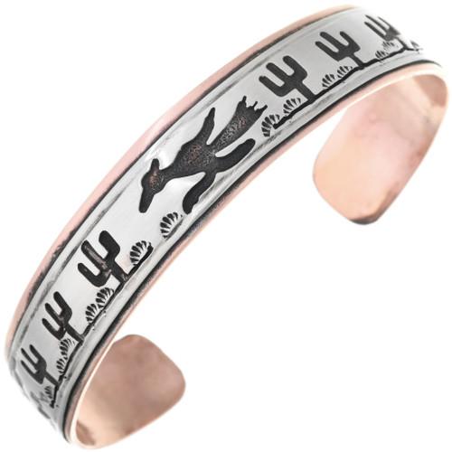 Navajo Roadrunner Cuff Bracelet 40031