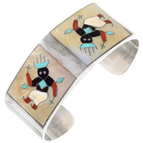 Vintage Apache Crown Dancer Zuni Cuff Bracelet 40069