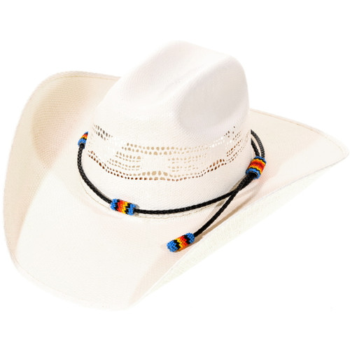 American Indian Beaded Leather Hatband 40076
