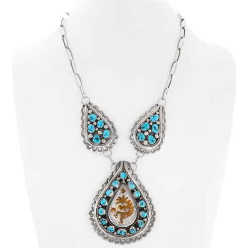 Navajo Turquoise Kokopelli Necklace 40107