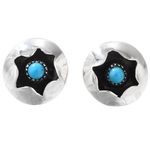 Native American Sterling Silver Turquoise Earrings 40123