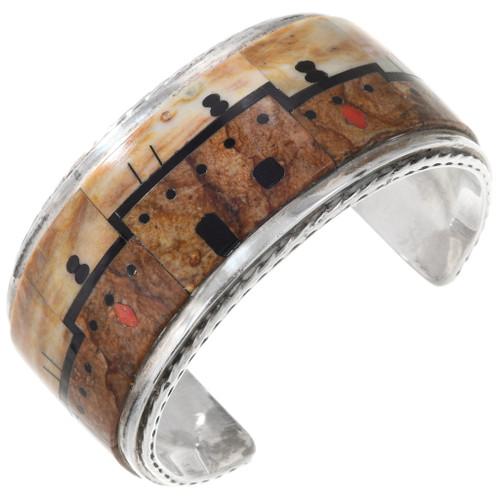 Vintage Zuni Pueblo Adobe Cuff Bracelet 40126