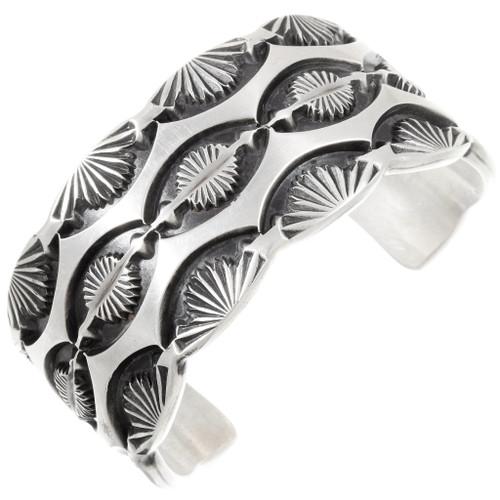 Vintage Navajo Hammered Sterling Silver Bracelet 40156