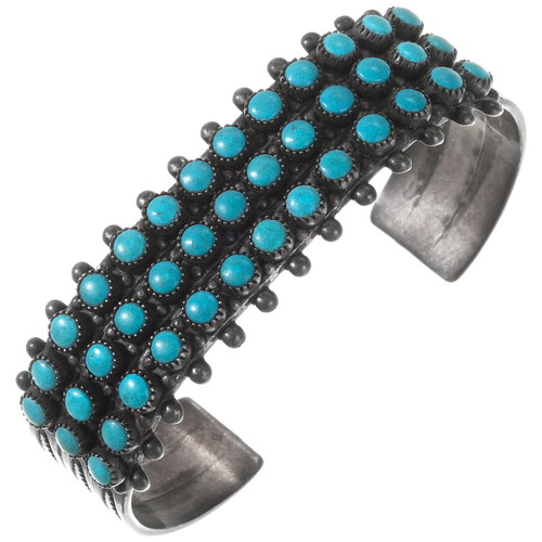 Vintage Zuni Turquoise Bracelet 40189