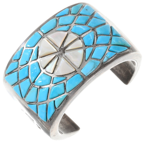 Old Pawn Inlaid Turquoise Bracelet 40190
