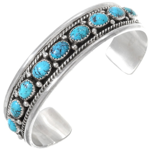 Native American Turquoise Sterling Silver Bracelet 40223