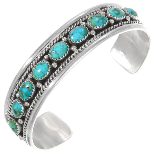 Natural Carico Lake Turquoise Bracelet 40224