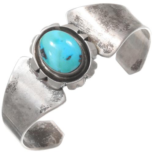 Vintage Sterling Silver Sleeping Beauty Turquoise Bracelet 40247