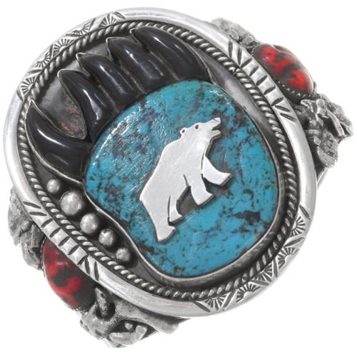 Vintage Turquoise Bear Paw Bracelet 40252