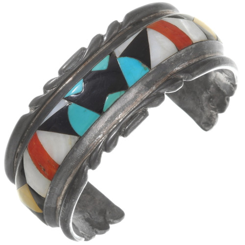Old Pawn Zuni Inlay Bracelet 40274