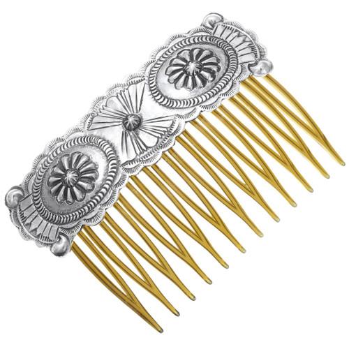 Navajo Sterling Silver Hair Comb 40289