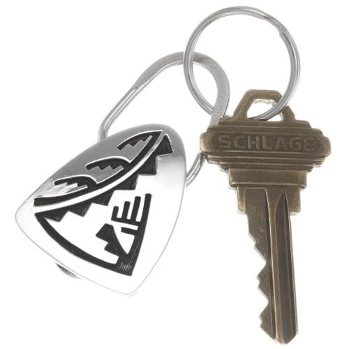 Native American Pueblo Silver Key Ring 40302