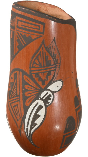 Pueblo Pottery Vase Butterfly Design 40315