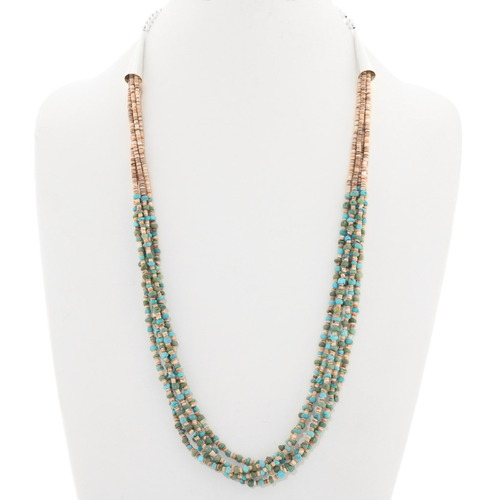 Navajo Turquoise Heishi Five Strand Necklace 40338