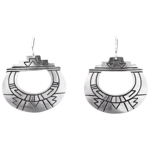 Sterling Silver Native American Earrings 40352