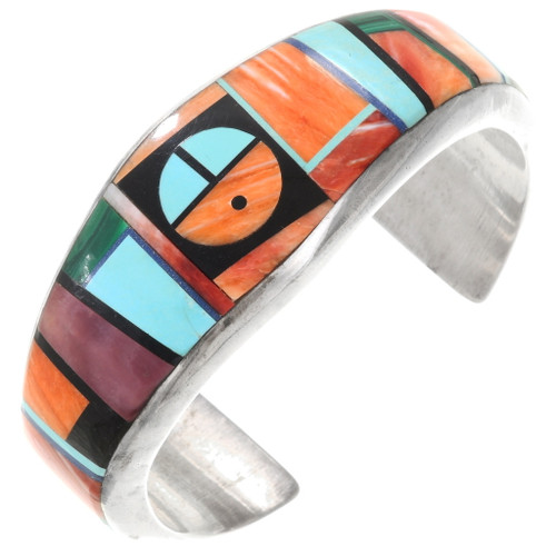 Inlaid Turquoise Spiny Oyster Navajo Bracelet  40364