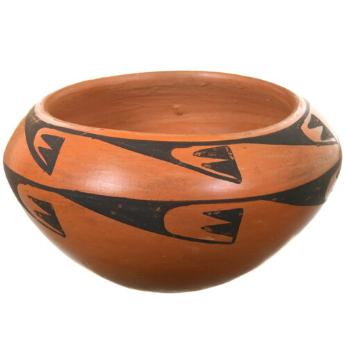 Hopi Tewa Vintage Pottery Bowl 40401