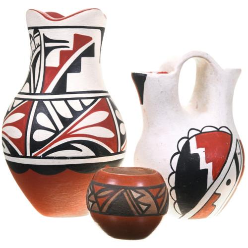 Small Vintage Jemez Pueblo Pottery Set 40402