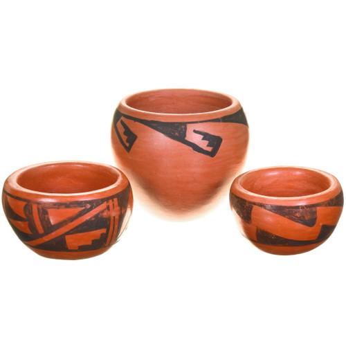 Small Vintage Hopi Tewa Pottery Set 40403