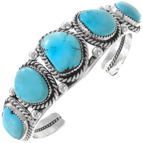 Natural Sleeping Beauty Turquoise Cuff Bracelet 40425