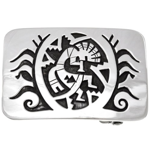 Navajo Sterling Silver Kokopelli Belt Buckle 24074