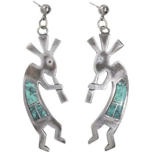Vintage Turquoise Kokopelli Earrings 40485