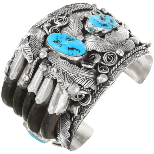 Large Native American Bear Claw Cuff Bracelet 40503