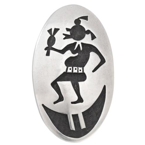 Vintage Hopi Silver Mudhead Kachina Pin 40507