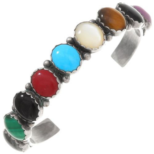 Vintage Turquoise Gemstone Cuff Bracelet 40515