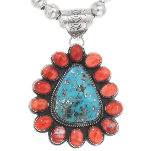 Turquoise Shell Native American Pendant 40591