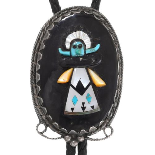 Zuni Shalako Kachina Silver Bolo Tie 40607