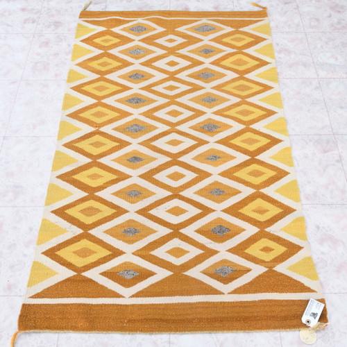 Vintage Navajo Double Saddle Blanket 40636