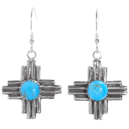 Zia Turquoise Sterling Silver Earrings 40645