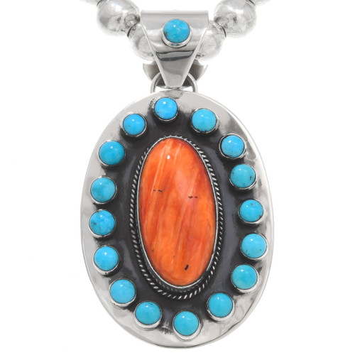 Spiny Oyster Turquoise Pendant 40648