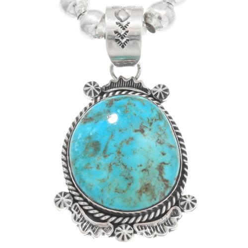 Navajo Arizona Turquoise Pendant 40651