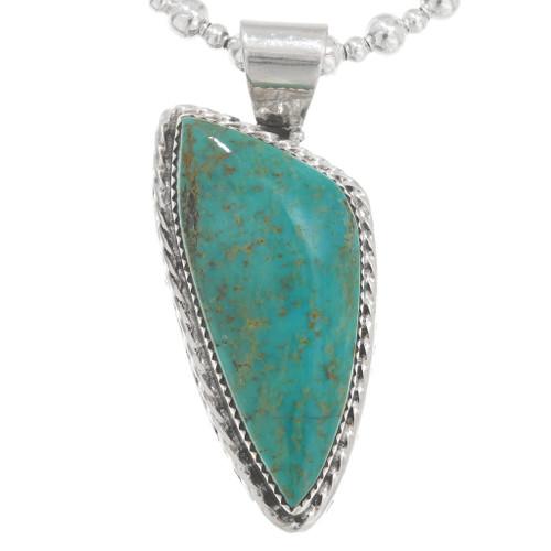 Green Turquoise Navajo Pendant 40658