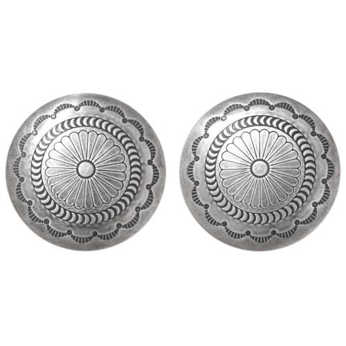 Vintage Navajo Silver Concho Earrings 40673