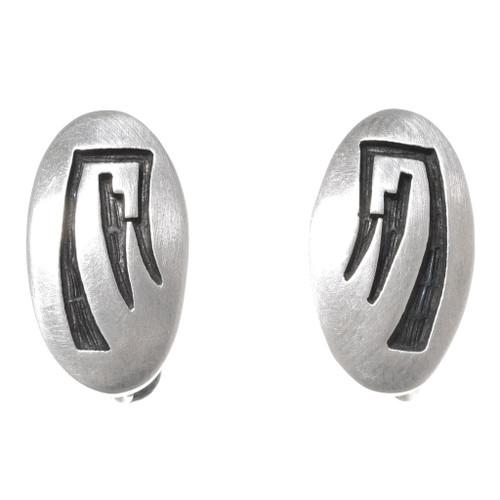 Vintage Hopi Sterling Silver Earrings 40680