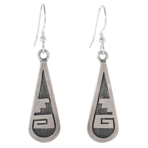 Vintage Sterling Silver Hopi Earrings 40672