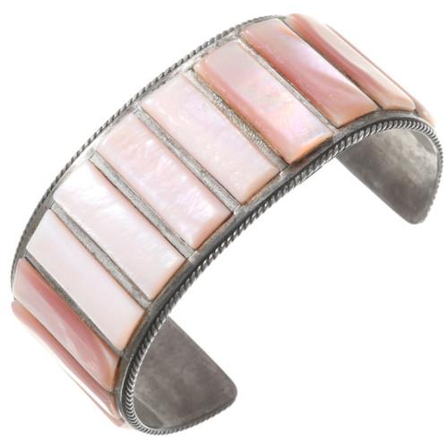 Vintage Zuni Pink Shell Bracelet 40731