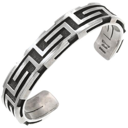 Native American Sterling Silver Cuff Bracelet 40734