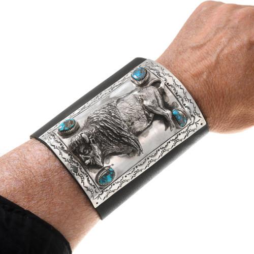 Vintage Sterling Silver Buffalo Ketoh Cuff 40738