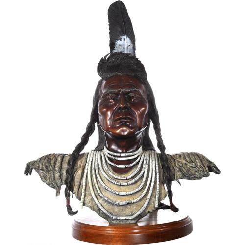 Chief Joseph Bronze Bust 40786