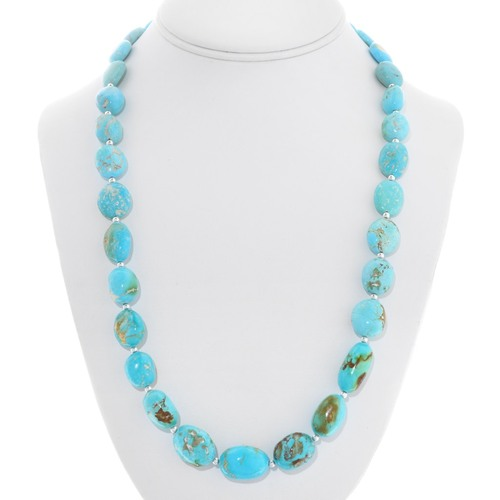 Beaded Natural Turquoise Necklace 40792