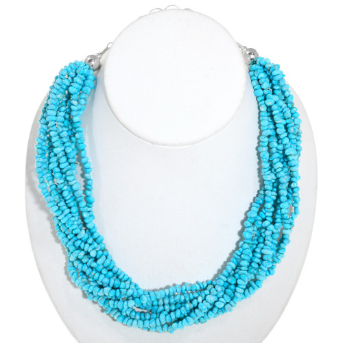 Natural Turquoise Bead Necklace 40840