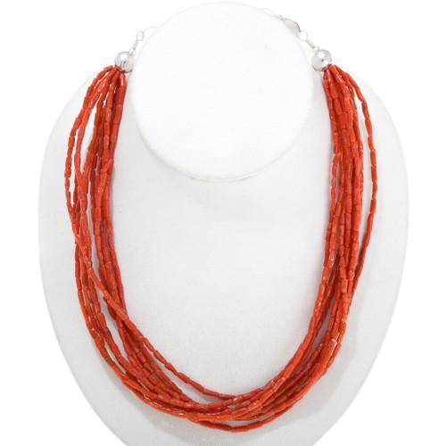 Natural Mediterranean Coral Necklace 40843