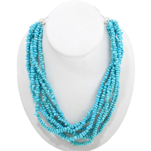 Natural Sleeping Beauty Turquoise Necklace 40844