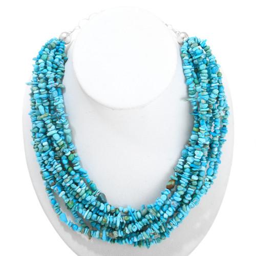 Natural Arizona Turquoise Beaded Necklace 40850